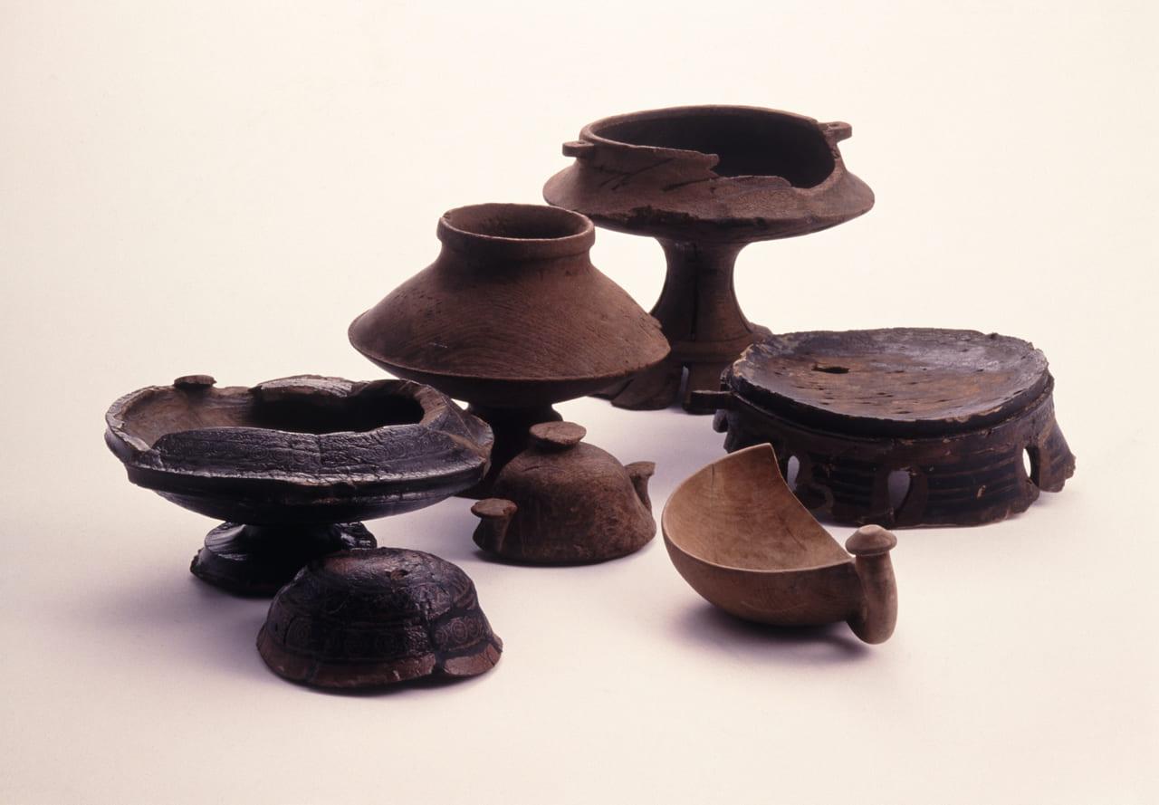 青谷上寺地遺跡の展示品