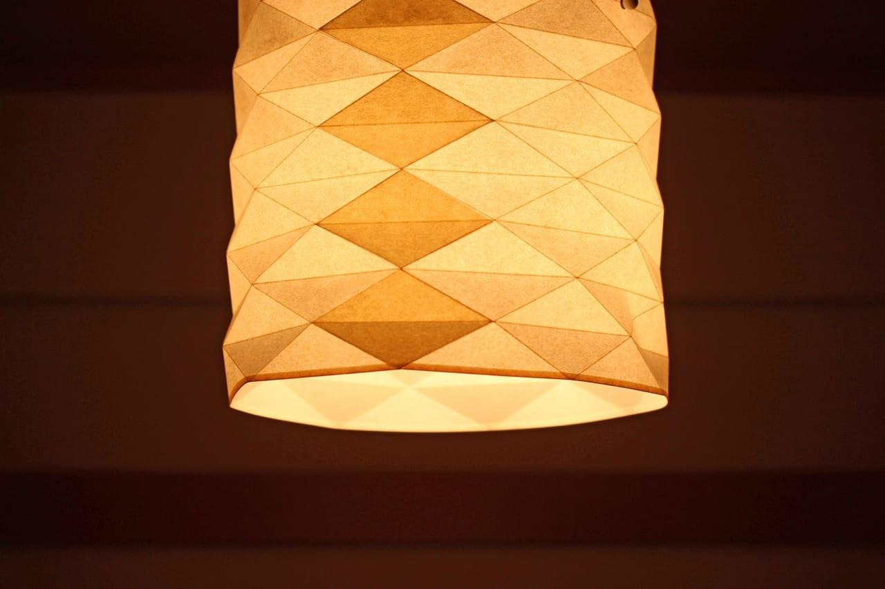 和紙のランプ