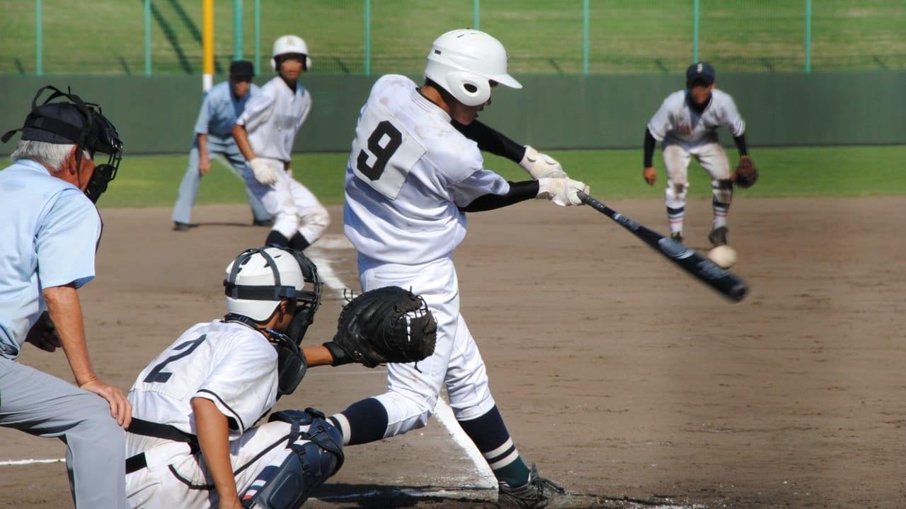 一宮市の平島公園野球場で野球をしているイメージ