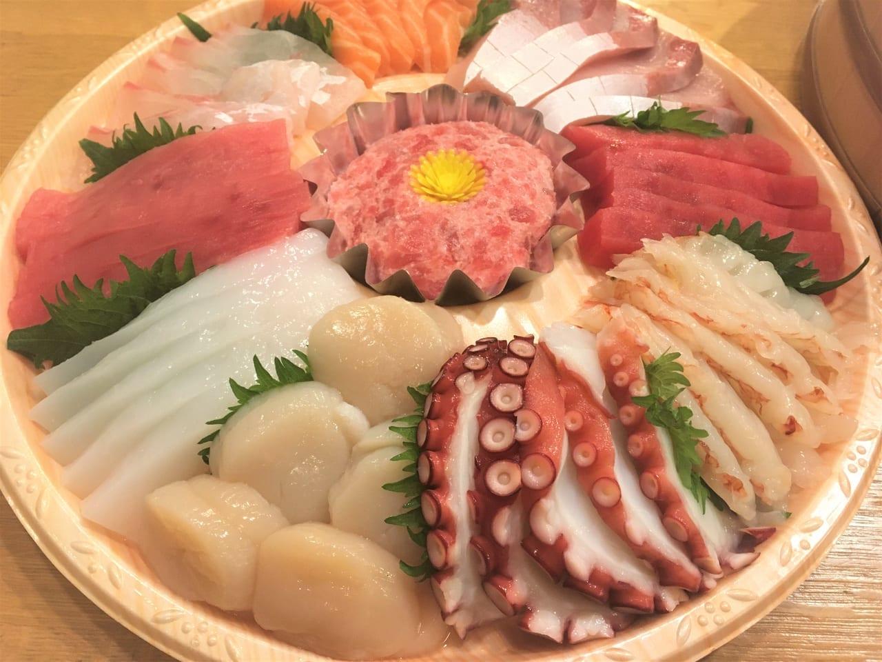 ピアゴプラス妙興寺店の鮮魚コーナーでオーダーした刺身