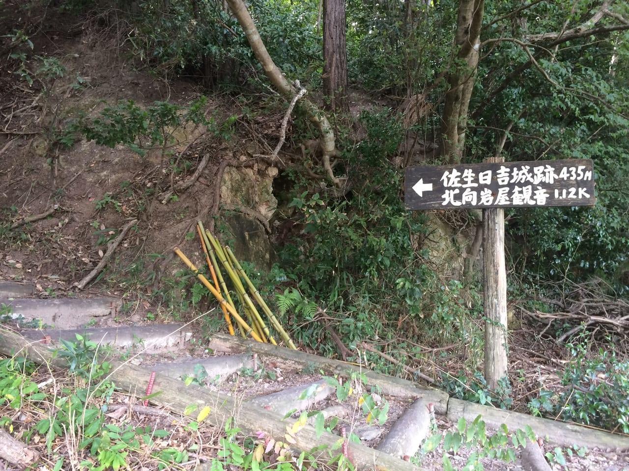 佐生城の道