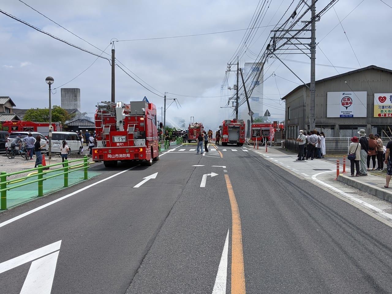 金岡東町火災現場(2021.06.13)