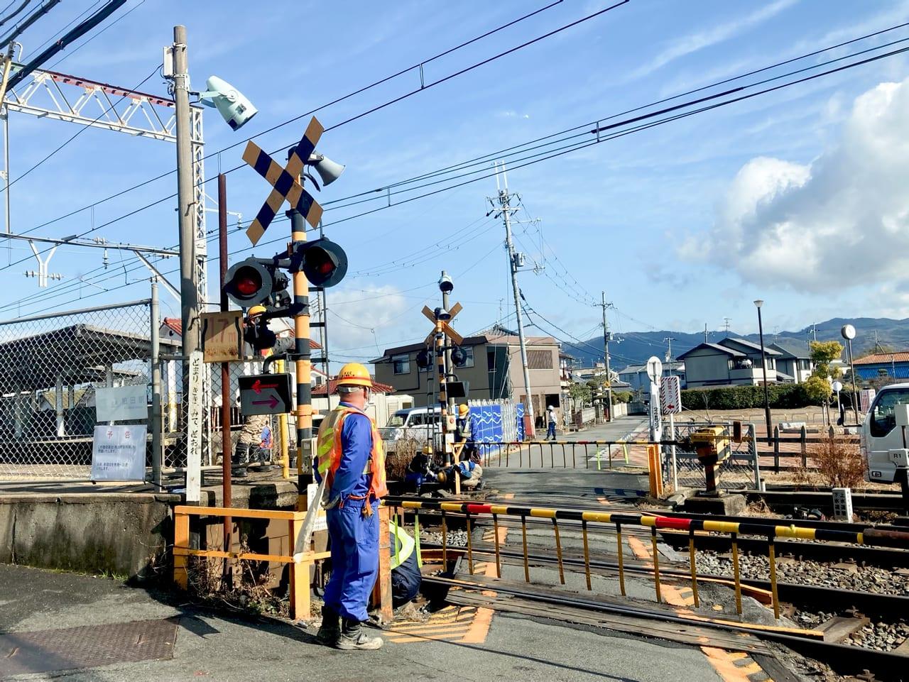 狛田駅踏切