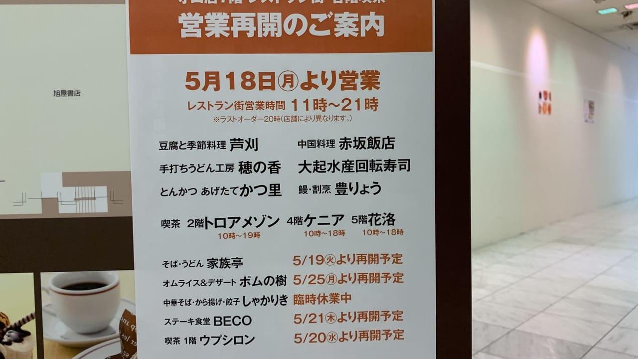 京阪レストラン営業再開のお知らせ