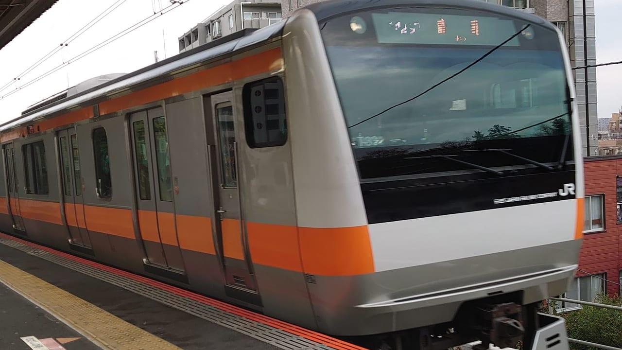 JR中央線日野駅ホーム