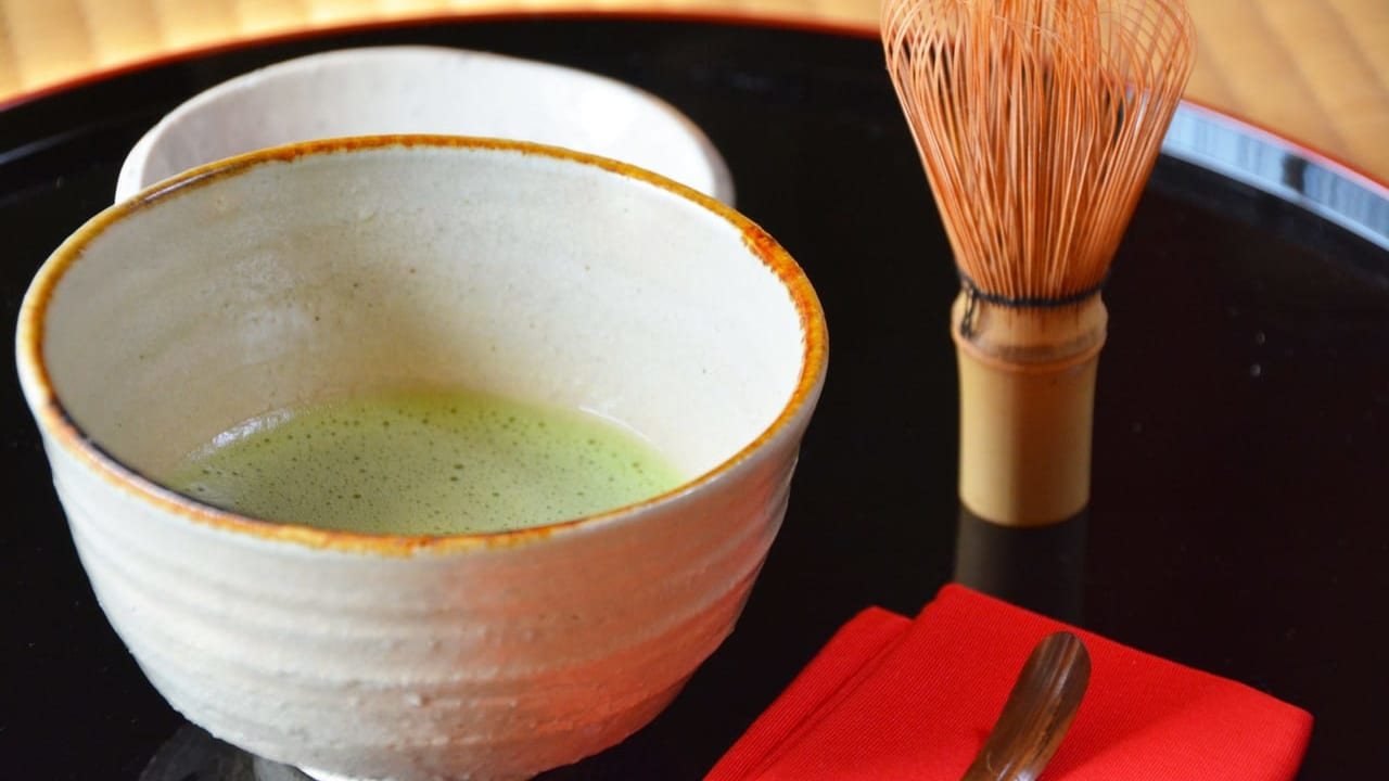 松永記念館庭園呈茶