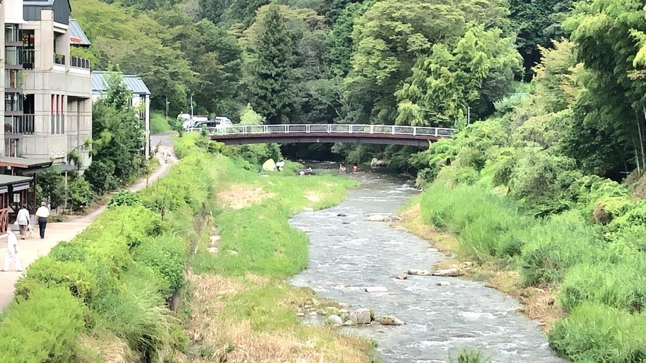 足助の川遊び場