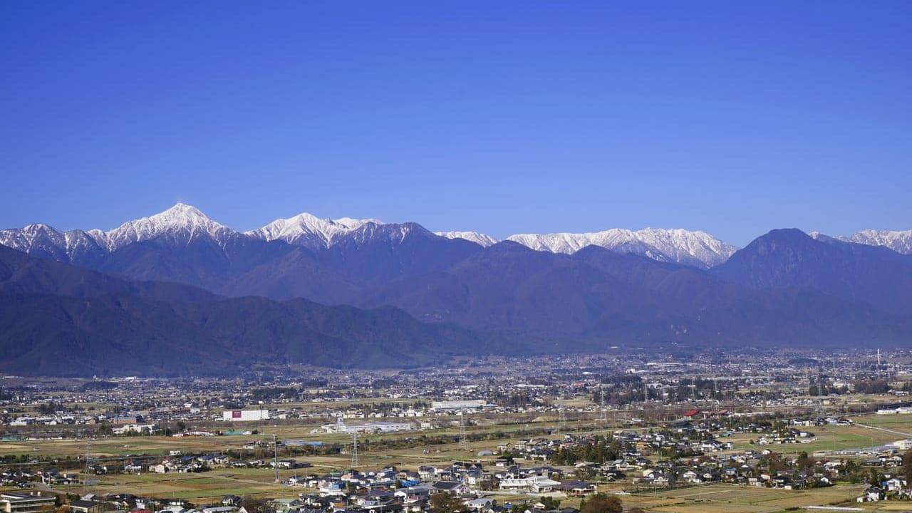 松本市初冠雪